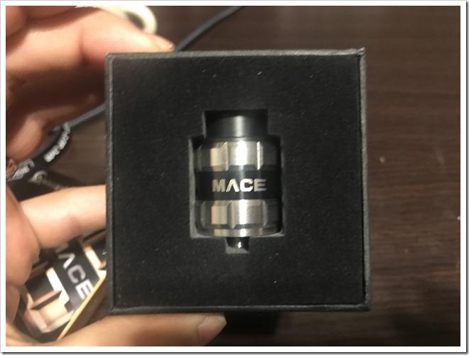 IMG 6685 thumb - 【レビュー】Ample Vape MACE BF RDAレビュー!最初はとにかく硬いけど、吸ったら爆煙製造機!BFピンデフォルト搭載のスコンカー推奨RDA!【とにかく硬い/力強い/RDA/ボトムフィーダー】