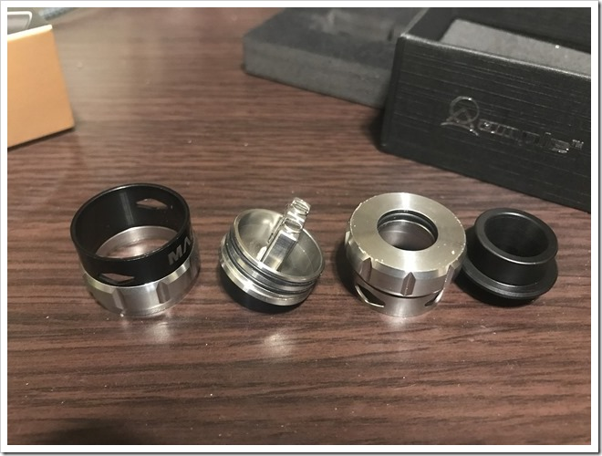 IMG 6689 thumb - 【レビュー】Ample Vape MACE BF RDAレビュー!最初はとにかく硬いけど、吸ったら爆煙製造機!BFピンデフォルト搭載のスコンカー推奨RDA!【とにかく硬い/力強い/RDA/ボトムフィーダー】