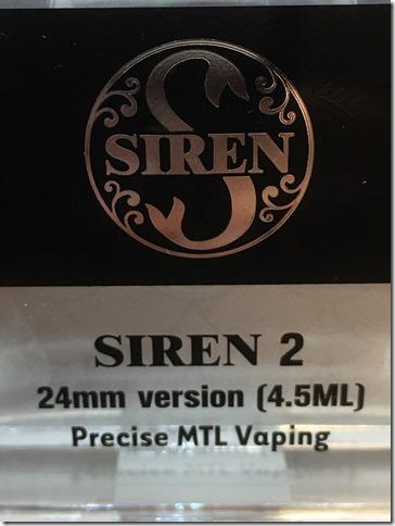 IMG 9513 thumb - 【レビュー】DIGIFLAVOR SIREN 2 GTA 24mm version 4.5ML(デジフレーバーサイレン2ジーティーエー24ミリバージョン)【GTA】~最近MTL流行ってるけど…MTLで24mmってどうなの(ΦдΦ)?編~