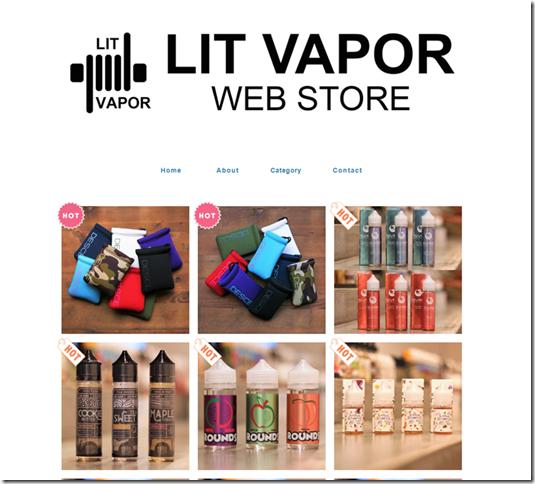 LITVAPOR thumb 1 - 【ショップ】LIT VAPORのOFFICIAL WEB SHOPが12月7日20時についにオープン!WEB SHOPもオシャレ!!Desce製品の充実の品ぞろえ☆リキッドなどの取り扱いも多く、自分好みのリキッド探しにもオススメです!!!【LIT VAPOR/WEB SHOP/オープン】