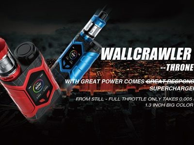 WallCrawler KIT 1.width 2560 thumb 400x300 - 【GIVEAWAY】サイバークールビューティ!カラー液晶搭載Vaptio Wall Crawler キット&SOLO FLATキットが当たる豪華プレゼント!!