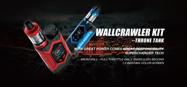 WallCrawler KIT 1.width 2560 thumb - 【GIVEAWAY】サイバークールビューティ!カラー液晶搭載Vaptio Wall Crawler キット&SOLO FLATキットが当たる豪華プレゼント!!