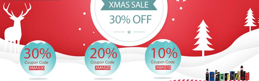 XMASSALE4 - 【セール】きよしこの夜。VAPE&ガジェットクリスマスセール情報2017まとめ!!サンタさん靴下の中にいれとくれ!【VAPE/電子タバコ/リキッド/ガジェット】
