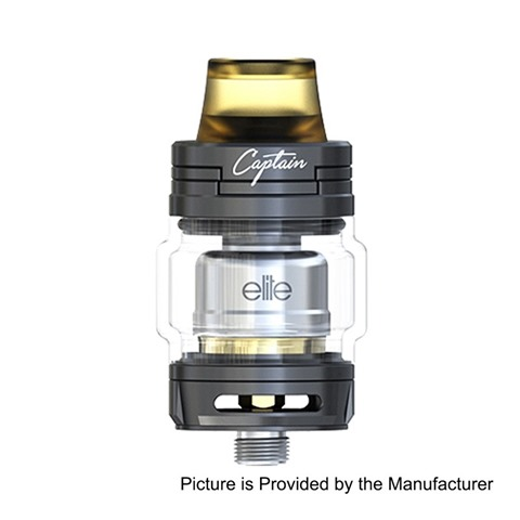 authentic-ijoy-captain-elite-rta-rebuildable-tank-atomizer-black-stainless-steel-3ml-225mm-diameter