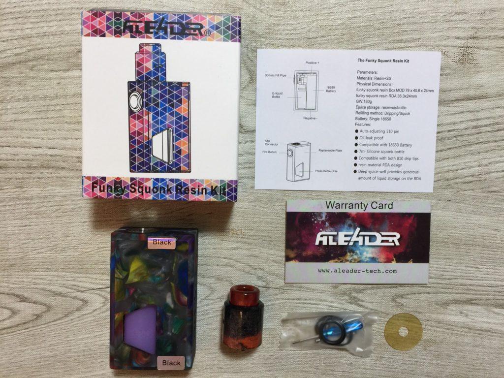 43b8e249 4011 4f0e a30c 42b7636570bc e1515346770295 1024x768 - 【レビュー】ALEADERのスコンカー「funky squonk resin kit」が予想以上に旨くておったまげー