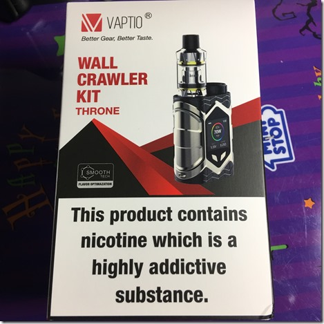 IMG 27291 thumb - 【レビュー】「VAPTIO WALLCRAWLER KIT(ヴァプティオウォールクラウラーキット)」レビュー。カラー液晶で観やすく、操作も簡単スターター!【電子タバコ/スターター】