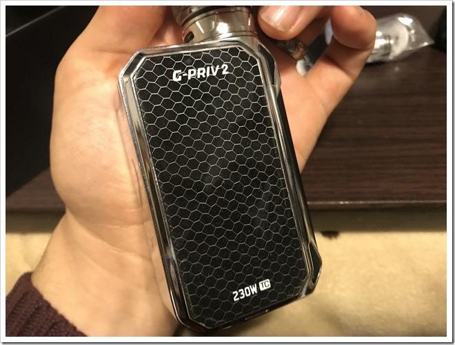 IMG 6854 thumb - 【レビュー】SMOK G-PRIV2 230W TC Kitレビュー!230WのハイパワーMODに爆煙クリアロマイザーをセットにした爆煙入門機!タッチパネル搭載で楽々操作のMODにも注目だ!