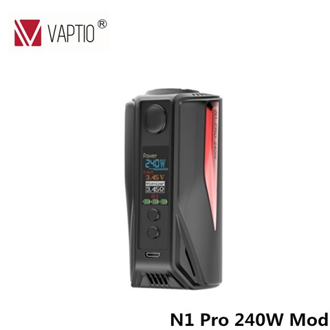 Original 240W Vaptio N1 Pro TC Box MOD E cigarette Vape mod Temper Control Mod without thumb - 【GIVEAWAY】Vaptio N1 Pro 240Wキット、Wall Crawlerキット、Solo Flatスターターをプレゼント!バレンタインデーGIVEAWAY