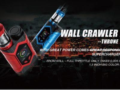 WALL CRAWLER KIT THRONE TANK 1.width 2560 thumb 400x300 - 【レビュー】「VAPTIO WALLCRAWLER KIT(ヴァプティオウォールクラウラーキット)」レビュー。カラー液晶で観やすく、操作も簡単スターター!【電子タバコ/スターター】