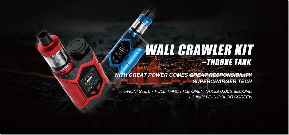 WALL CRAWLER KIT THRONE TANK 1.width 2560 thumb - 【レビュー】「VAPTIO WALLCRAWLER KIT(ヴァプティオウォールクラウラーキット)」レビュー。カラー液晶で観やすく、操作も簡単スターター!【電子タバコ/スターター】