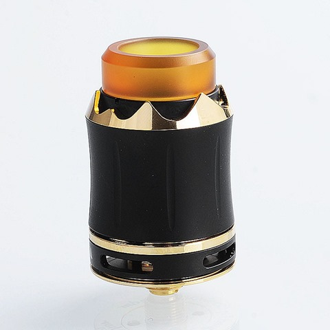 authentic cool vapor arthur rda rebuildable dripping atomizer black stainless steel 24mm diameter thumb - 「Hugo Vapor Delux 220W」「Cool Vapor Arthur RDA」「OBS Crius RDA」「Salviaリキッド」「IJOY Capo 216Wスコンカーキット」