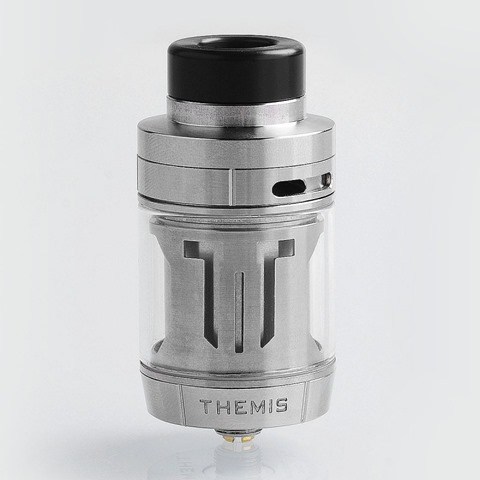 authentic digiflavor themis rta rebuildable tank atomizer dual coil version silver stainless steel 5ml 27mm diameter thumb - 「Digiflavor Themis RTA」「Cartel OBELISK RDA」「GeekVape Aero Sub Ohm Tank Clearomizer」「UWELL Ironfist TC Box Mod 200W」「Uwell Fancier RTA/RDA Tank - 4ml」