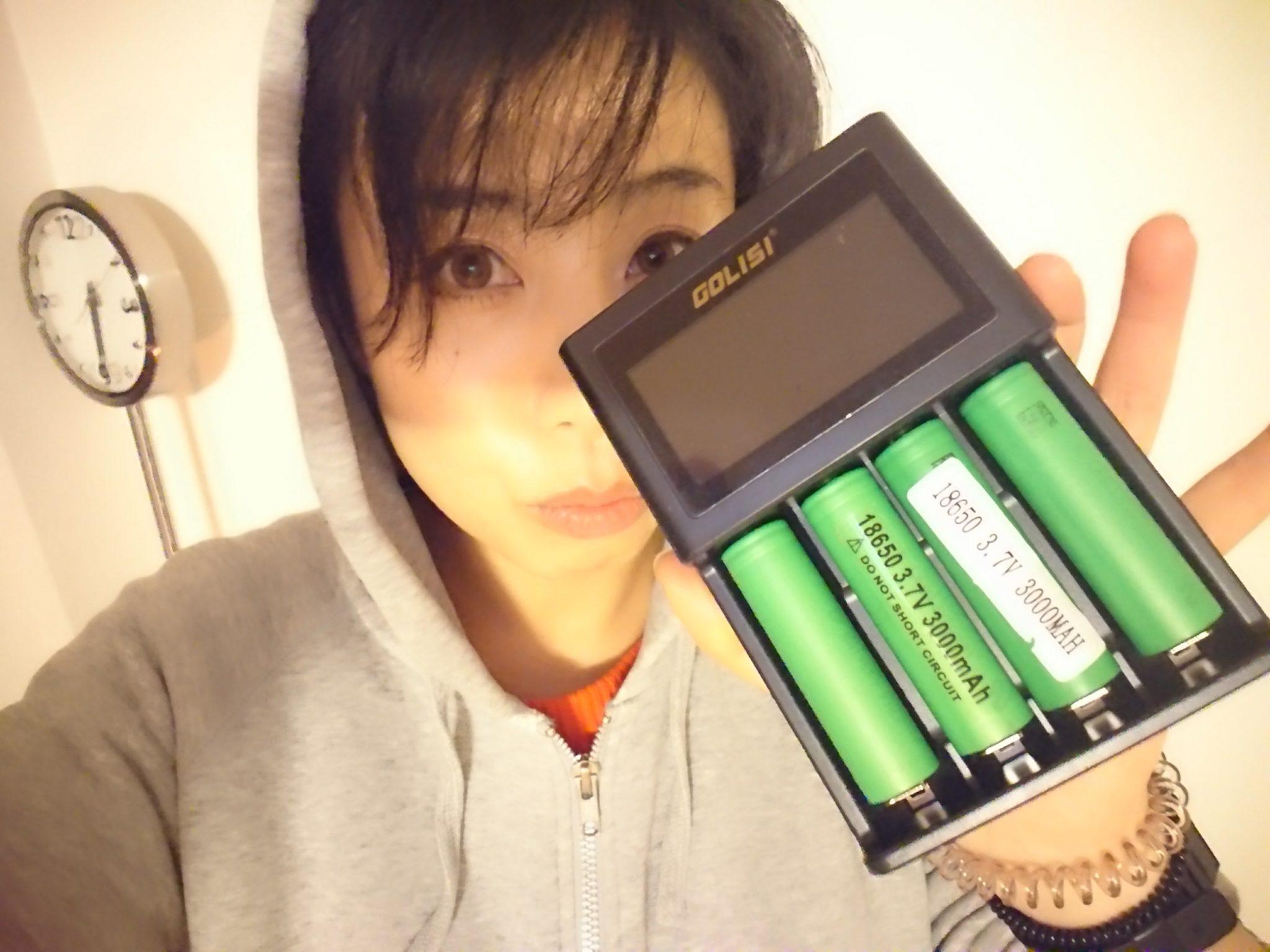 DSC 1790 - 【レビュー】Golisi S4バッテリーチャージャーの威力にエィミイ震える!!18650バッテリー4本充電可能【VAPEガールズ】