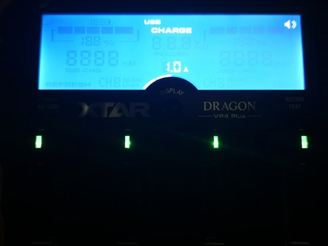 IMG 20180205 231617 thumb - 【レビュー】「XTAR DRAGON VP4 Plus」(エクスタードラゴンブイピーフォープラス)最大4本2A充電可能なXTARマルチ最強充電器【XTAR/バッテリー充電器】