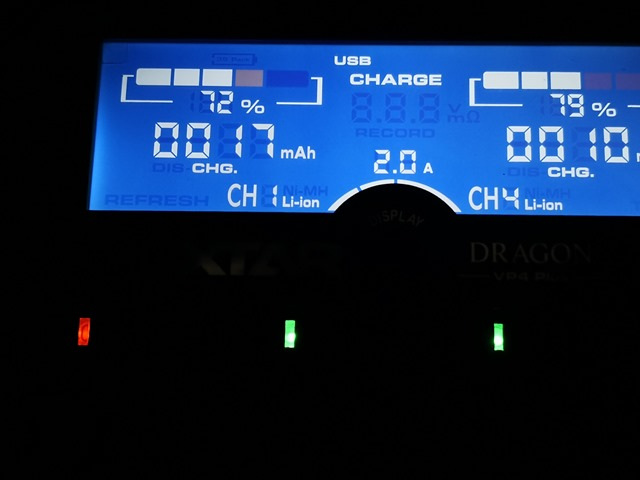 IMG 20180205 231816 thumb - 【レビュー】「XTAR DRAGON VP4 Plus」(エクスタードラゴンブイピーフォープラス)最大4本2A充電可能なXTARマルチ最強充電器【XTAR/バッテリー充電器】