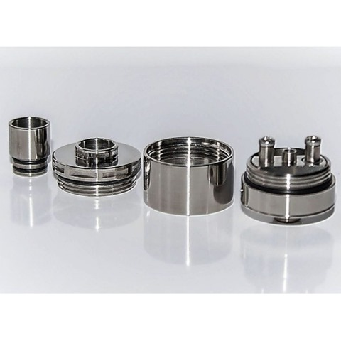 atomizer achilles full titanium 1 thumb - 【レビュー】「Achilles mini RDA/RBA by Titanium Mods」(チタニウムモッズ・アキレスミニRDA)レビュー。アキレス(Achilles II RDA)をちっちゃく!したらこうなったチタン製軽量ドリッパー。フレーバーチェイス向け