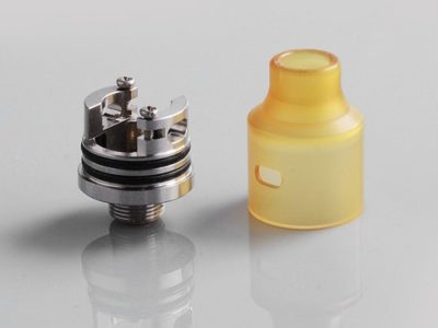 authentic demon killer tiny rda rebuildable dripping atomizer w bf pin yellow pei stainless steel 14mm diameter thumb 400x300 - 【レビュー】Demon Killer Tiny RDA(デーモンキラー・タイニーアールディーエー)レビュー、14mm幅の超コンパクトボトムフィーダーアトマ!