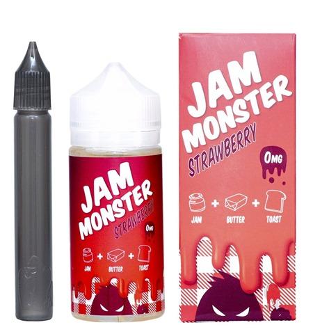 71KUoeLGmL. SL1365 thumb - 【リキッド】JAM MONSTER – STRAWBERRY(ジャムモンスター ストロベリー)100ml~中毒者続出中!?激甘デザート系リキッド~【レビュー】