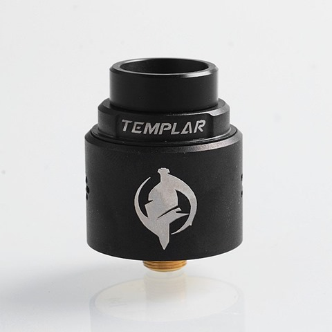 authentic augvape templar rda rebuildable dripping atomizer w bf pin black stainless steel 24mm diameter thumb - 【海外】「Digiflavor Themis RTA」「Kanger UBOAT Starter Kit 550mAh」「Augvape Templar RDA」「Cotton Bacon Prime by Wick'N' Vape」