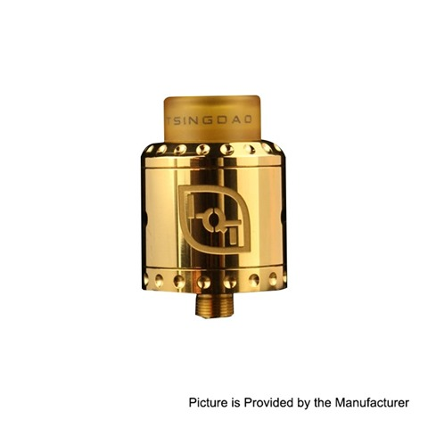 authentic dovpo lqt rda rebuildable dripping atomizer w bf pin gold stainless steel 24mm diameter thumb - 【海外】「Dovpo LQT RDA」「Vandy Vape Lit RDA」「DOVPO ROGUE 100W」「VAPE用バッグ」「26650バッテリー用スリーブケース」など