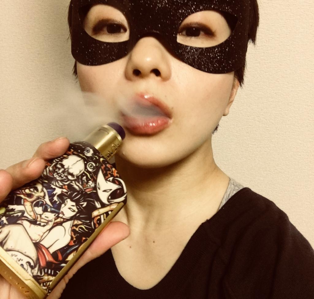 08 03 1024x976 - 【レビュー】禁酒中でアタマがどうにかなりそうな仮面女子、タバコとラム酒の大人リキッドに救いを求める「Layzer Crew Gang Way(レイザークルー・ギャングウェイ)」レビュー。