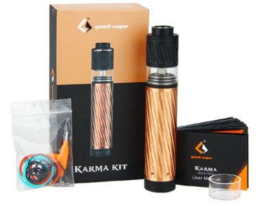 GeekVape Karma Starter Kit W O Battery 06 530372 thumb 400x300 - 【レビュー】GEEK VAPE KARMA2 KIT(ギークベイプ カルマ2 キット)~ギークベイプから大人気キットの2作目!対応電池が増えてバージョンアップ…まぁ映画でも2作目って…ね(ΦдΦ)編~【スターターキット・メカニカル】