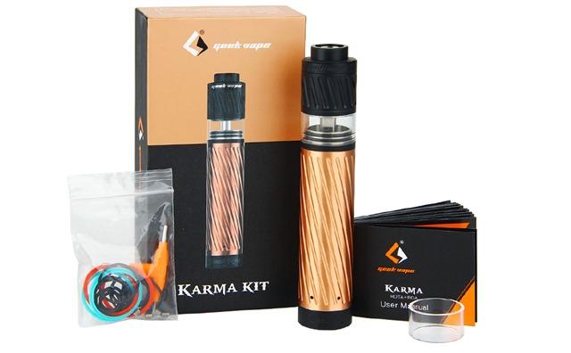 GeekVape Karma Starter Kit W O Battery 06 530372 thumb - 【レビュー】GEEK VAPE KARMA2 KIT(ギークベイプ カルマ2 キット)~ギークベイプから大人気キットの2作目!対応電池が増えてバージョンアップ…まぁ映画でも2作目って…ね(ΦдΦ)編~【スターターキット・メカニカル】