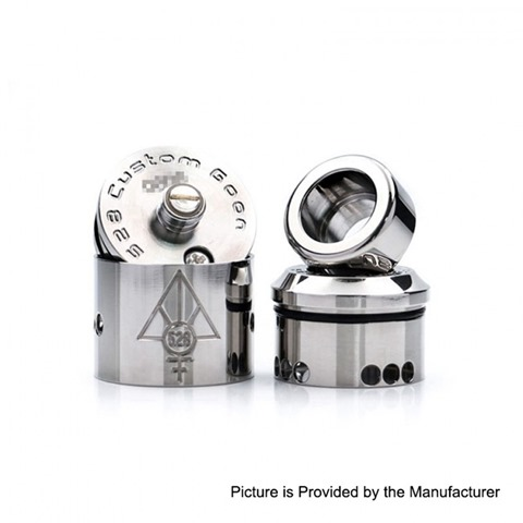 authentic 528 custom titanium goon rda rebuildable dripping atomizer silver titanium silver 24mm diameter 1 thumb - 【海外】「Vaporesso Cascade One Plus 3000mAh Mod + Cascade Baby SE Tankキット」「Joyetech Exceed Edge 650mAh スターターキット」