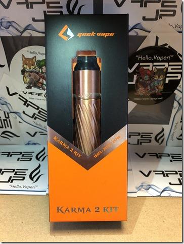 IMG 0130 thumb - 【レビュー】GEEK VAPE KARMA2 KIT(ギークベイプ カルマ2 キット)~ギークベイプから大人気キットの2作目!対応電池が増えてバージョンアップ…まぁ映画でも2作目って…ね(ΦдΦ)編~【スターターキット・メカニカル】