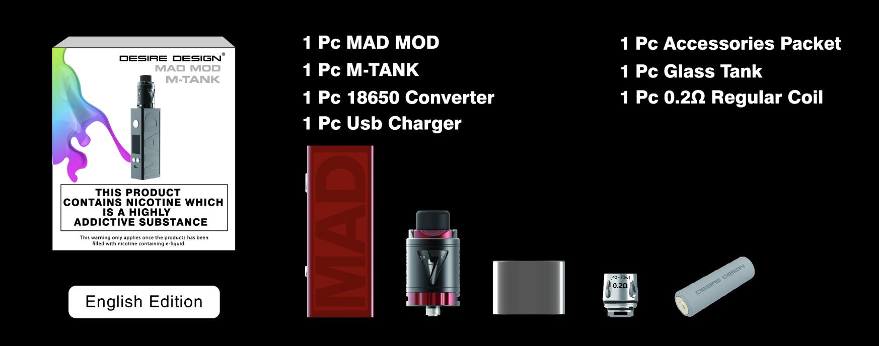 1af143e4bd1b1832cd08b3c7c13128f9 - 【レビュー】「Mad Mod Kit」 by DESIRE DESIGN MODもイケてるスターター!デザインおしゃれ、味濃厚。【VAPE/電子たばこ】