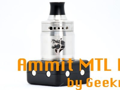 DSC 3780 400x300 - 【レビュー】(甘くないフレーバー特化型)タバコ系リキッドの味を爆発的に向上させる魔法のようなRDAはコレだ!Ammit MTL RDA by Geekvape