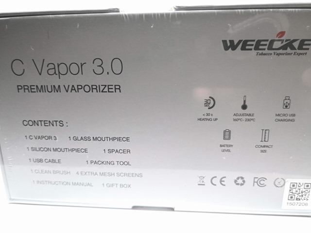 IMG 20180621 144356 thumb 1 - 【レビュー】「WEECKE C-VAPOR 3.0ヴェポライザー」(ウィーキー・シーベイパー3)至高のコストパフォーマンスヴェポ!さらにフレーバーも濃厚で510DT装着可、エアフロー調整と液晶もついてるよ!【ヴェポナビ/加熱式タバコ】