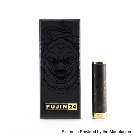 authentic cks fujin 24 hybrid mechanical mod black stainless steel 1 x 18650 24mm diameter thumb - 【海外】「Advken Manta MTL RTA(簡易レビュー)」「Thunderhead Creations THC Proto RTA」「CKS Fujin 24 Hybrid Mechanical Mod」