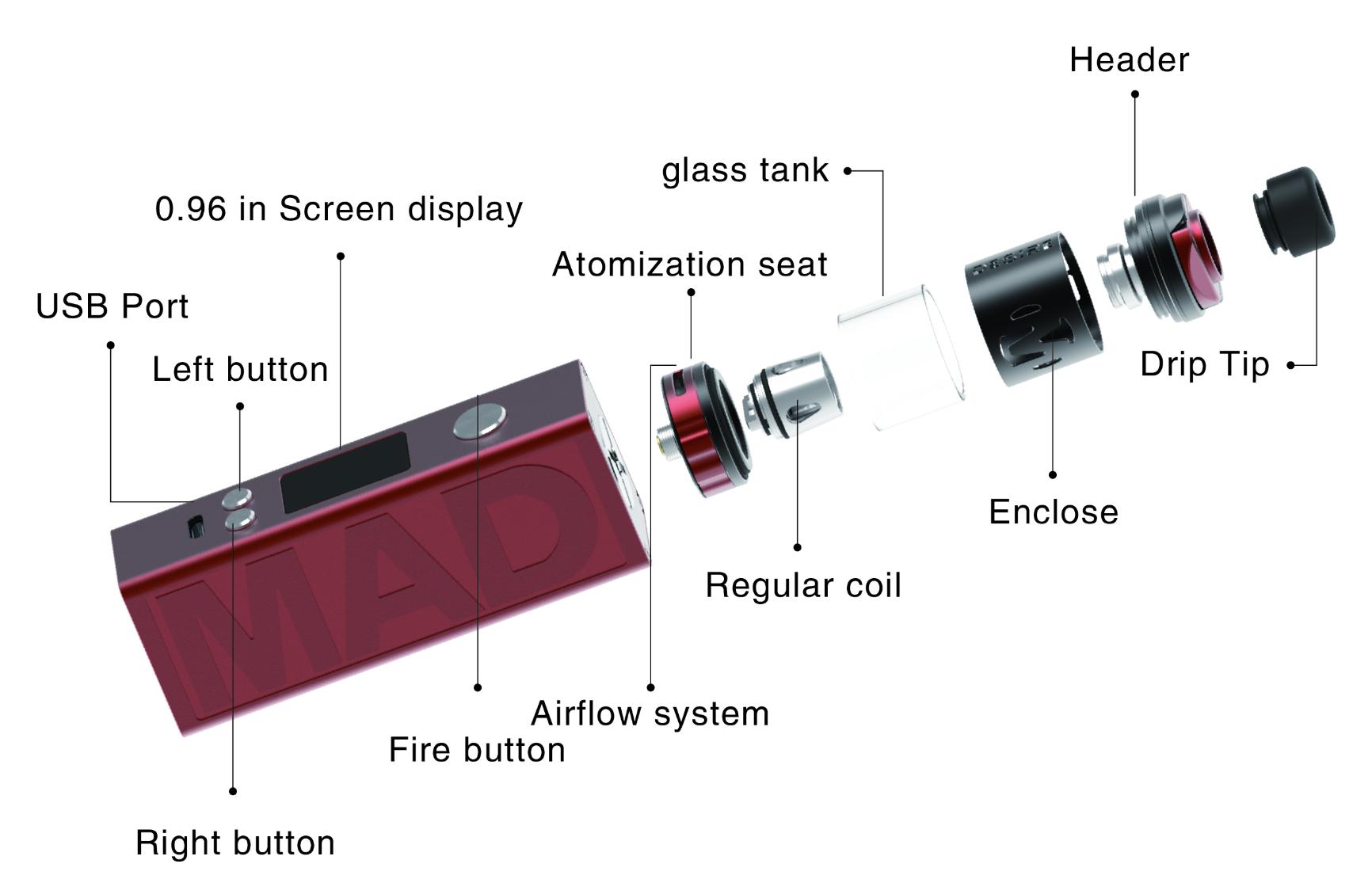 bc3a1a627d259f06615fe69d3cbb1dbd - 【レビュー】「Mad Mod Kit」 by DESIRE DESIGN MODもイケてるスターター!デザインおしゃれ、味濃厚。【VAPE/電子たばこ】