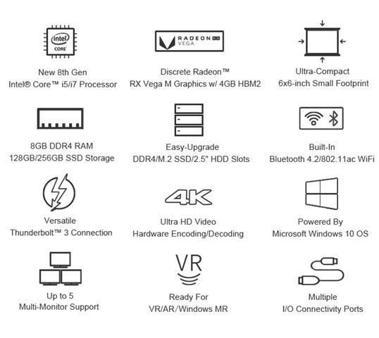 crkmlovpjklxkmvilhqg thumb - 【ゲーム】「Chuwi HIGamePC」Core i7/Radeon RX Vega M搭載世界最強最小のWindows PCゲーミングがコンパクトに凝縮されたスーパーマシンが8月に登場【ガジェット/キックスターター】