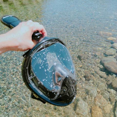 44880 thumb - 【レビュー】「シュノーケルマスク 2018年バージョン折り畳み式」口&鼻呼吸できて、Go Proカメラもマウントできるフルフェイス型の優れモノ!たまに行くならこんな川。プチダイビングにもおすすめ