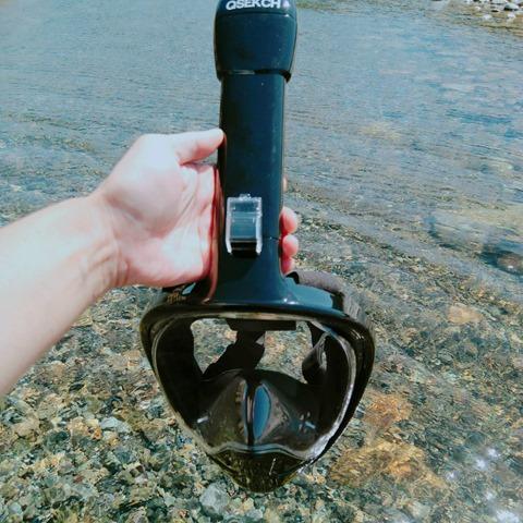 44881 thumb - 【レビュー】「シュノーケルマスク 2018年バージョン折り畳み式」口&鼻呼吸できて、Go Proカメラもマウントできるフルフェイス型の優れモノ!たまに行くならこんな川。プチダイビングにもおすすめ