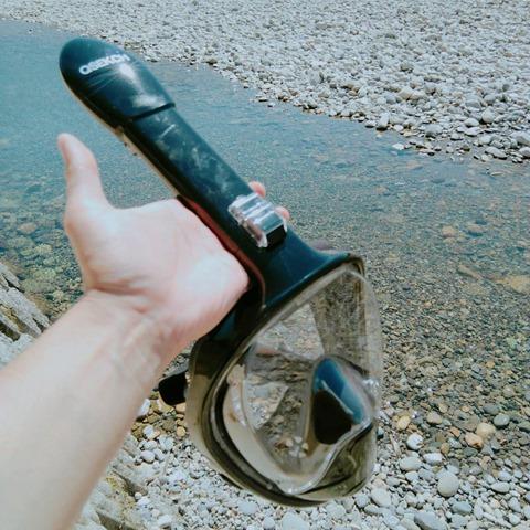 44885 thumb - 【レビュー】「シュノーケルマスク 2018年バージョン折り畳み式」口&鼻呼吸できて、Go Proカメラもマウントできるフルフェイス型の優れモノ!たまに行くならこんな川。プチダイビングにもおすすめ