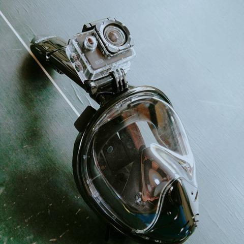 45001 thumb - 【レビュー】「シュノーケルマスク 2018年バージョン折り畳み式」口&鼻呼吸できて、Go Proカメラもマウントできるフルフェイス型の優れモノ!たまに行くならこんな川。プチダイビングにもおすすめ