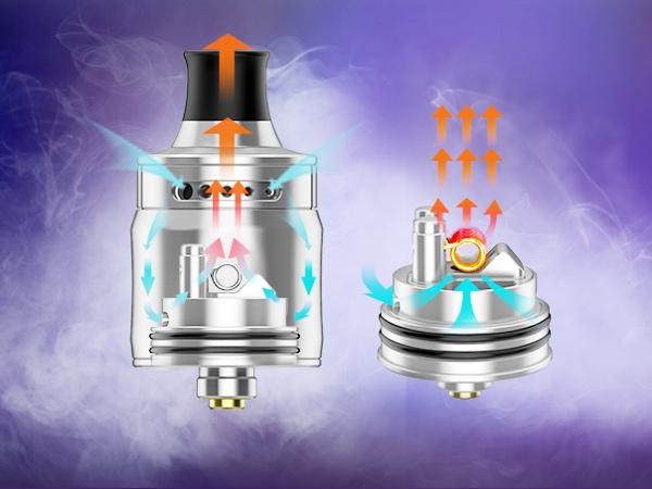 Ge4e5k5V6ape Ammit MTL RDA Airflow - 【レビュー】(甘くないフレーバー特化型)タバコ系リキッドの味を爆発的に向上させる魔法のようなRDAはコレだ!Ammit MTL RDA by Geekvape