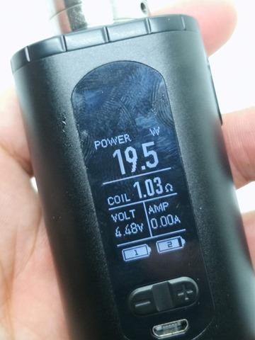 IMG 20180724 183153 thumb - 【レビュー】「Eleaf Invoke 220W TC/VW BOX MOD」レビュー。最小&最軽量&最強級でトリプルに強いデュアルバッテリーMOD!?