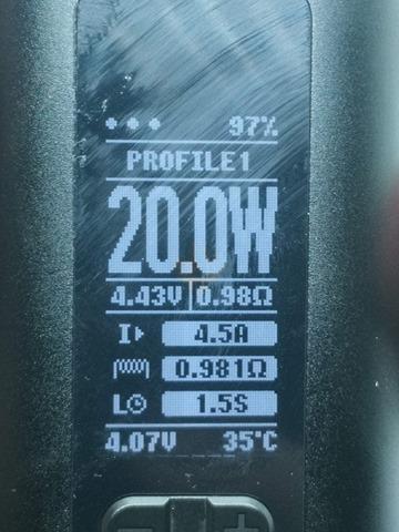 IMG 20180724 192730 thumb - 【レビュー】「Eleaf Invoke 220W TC/VW BOX MOD」レビュー。最小&最軽量&最強級でトリプルに強いデュアルバッテリーMOD!?