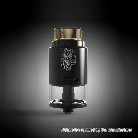 authentic 5gvape leopard rdta rebuildable dripping tank atomizer black stainless steel 4ml 24mm diameter thumb - 【海外】「Eleaf Saurobox 220W」「Vandy Vape Pyro V2 RDTA」「Geekvape Creed RTA」「Asmodus Luna 80W Squonk Box Mod」