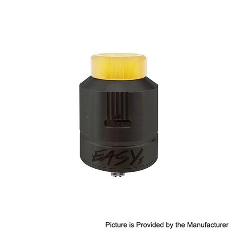 authentic afk studio easy one eda rda rebuildable dripping atomizer black stainless steel 24mm diameter thumb - 【海外】「Eleaf Saurobox 220W」「Vandy Vape Pyro V2 RDTA」「Geekvape Creed RTA」「Asmodus Luna 80W Squonk Box Mod」