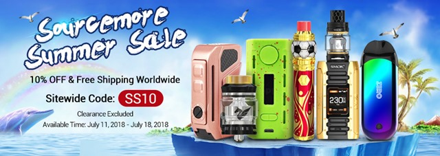 summer sales banner thumb - 【海外】「Snowwolf O-100 100W TC VW Squonk Box Mod + RDA Kit」「Oumier TRX RDA」「Vandy Vape Berserker MTL Kit」Sourcemore全品10%オフセール