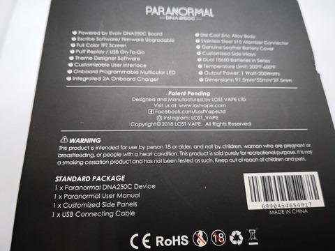 IMG 20180831 032813 thumb - 【レビュー】Lost Vape PARANORMAL DNA250C VW/TC MODレビュー。Evolv DNA250Cカラー基板搭載のハイエンドMOD!【ロストベイプ/Evolv DNA】