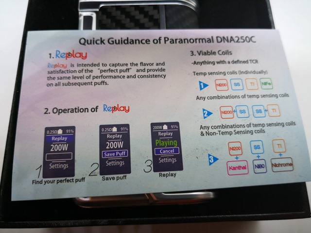 IMG 20180831 032851 thumb - 【レビュー】Lost Vape PARANORMAL DNA250C VW/TC MODレビュー。Evolv DNA250Cカラー基板搭載のハイエンドMOD!【ロストベイプ/Evolv DNA】