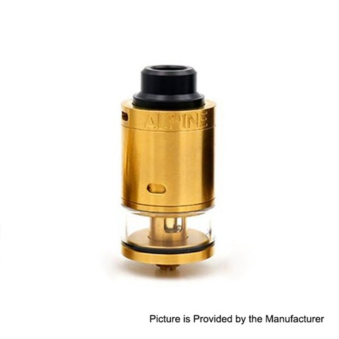 authentic syntheticloud alpine rdta rebuildable tank atomizer gold stainless steel 3ml 24mm diameter thumb - 【海外】「Lost Vape Triade 300W DNA250C TC Box Mod」「VGME DPS75 80W」「Joyetech EXCEED NC 2300mAh E-Cigarette Starter Kit」「Augvape Intake RTA」