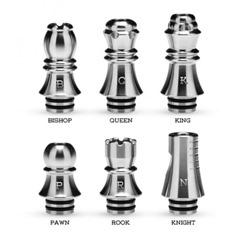 KIZOKU Chess Series Drip Tip 6pcs 005223783dd6 l thumb thumb - 【レビュー】「KIZOKU Chess Series 510ドリップチップ」レビュー。電タバ貴族のまっさーさんデザインのチェスドリチ!!