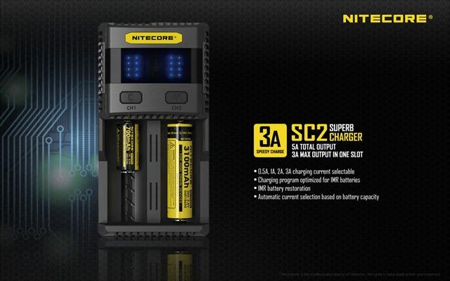SC2 EN 01 thumb - 【レビュー】「Nitecore Superb Charger SC2」バッテリーチャージャーレビュー。最大3Aの2スロット充電器!少し大きいが携帯して旅行にも持っていける。